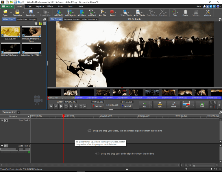 NCH VideoPad Video Editor 10.76 Crack + License Key Free Download