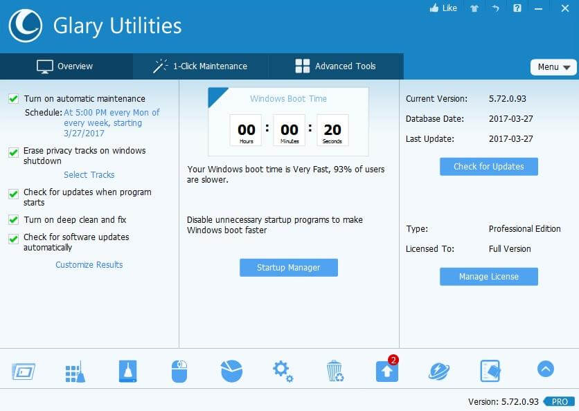 Glary Utilities Pro 5.161.0.187 + Key Latest Version 2021 Download